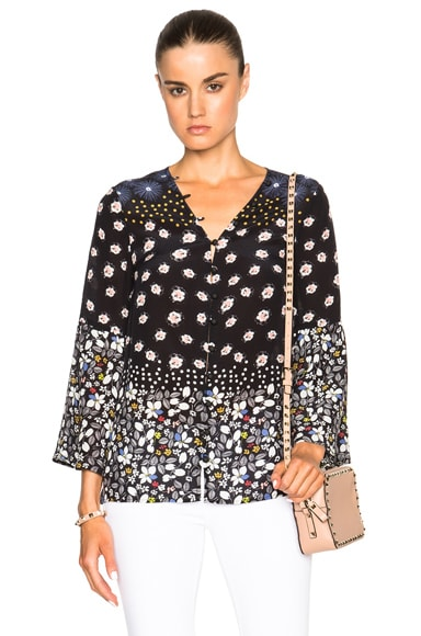 SUNO Button Front Top in Floral Dot