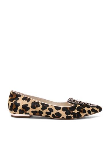 Calf Hair Bibi Butterfly Leopard Flats