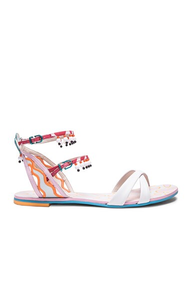 Leather Nereida Nectarine Sandals
