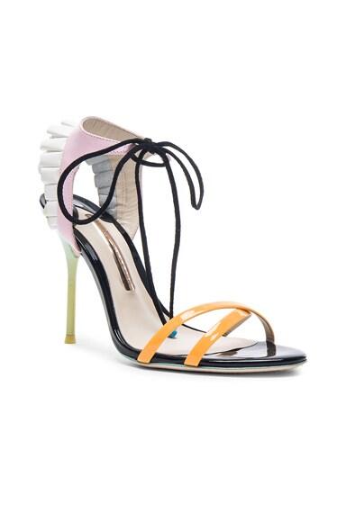 Leather Maribel Frill Heels