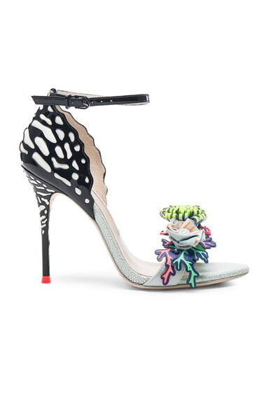 Sophia Webster Patent Leather Lilico Underwater Heels in Black & White