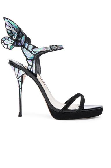Sophia Webster Suede Chaira Platform Heels Iridescent in Black