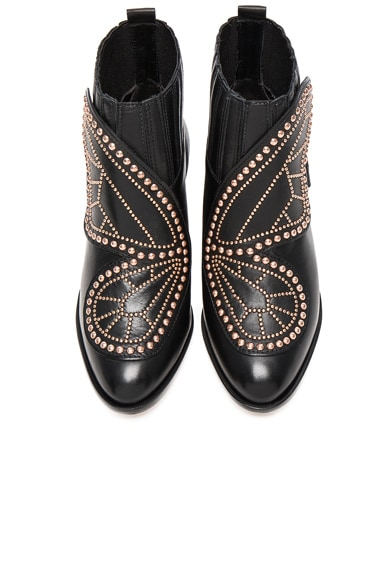 Sophia Webster Karina Butterfly Boots in Black