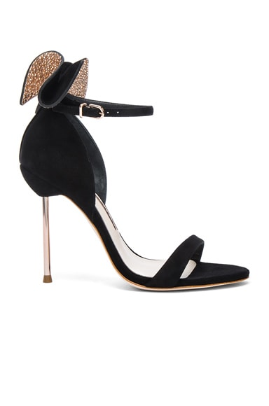 Sophia Webster Suede Maya Heels in Black