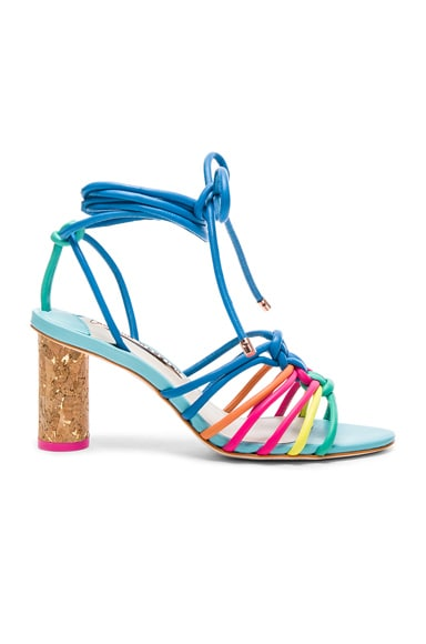 Sophia Webster Leather Copacabana Mid Sandals in Blue