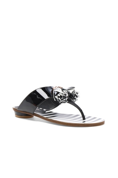 Patent Leather Saffi Slide