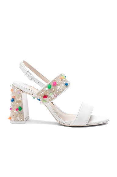 Sophia Webster Leather Clarice Mid Sandals in Lollipop