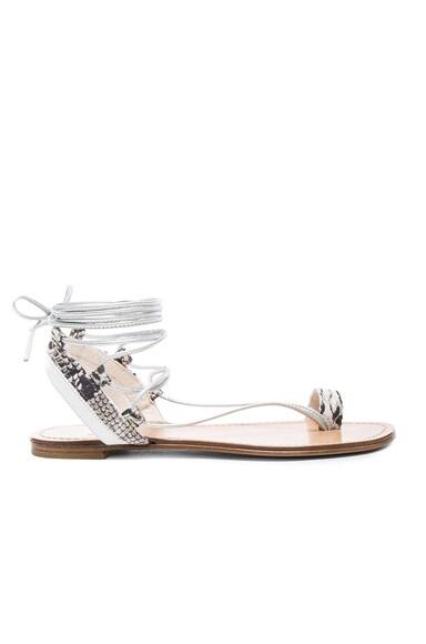 Embossed Lasso Sandals