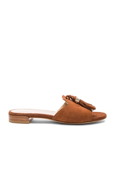 Suede Two Tassels Sandals
