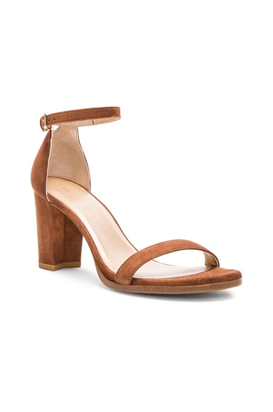 Suede Nearly Nude Heel