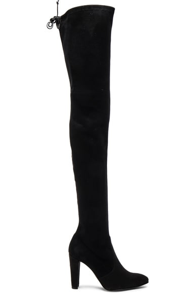 Stuart Weitzman Suede Alllegs Boots in Black