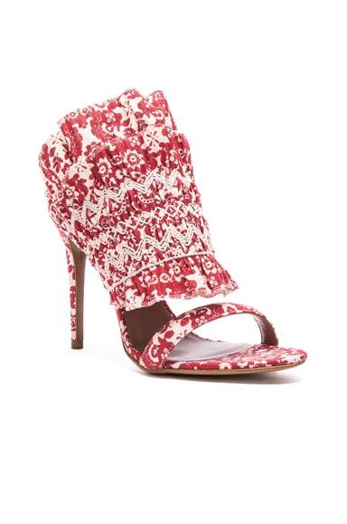 Flouncy Linen Heels
