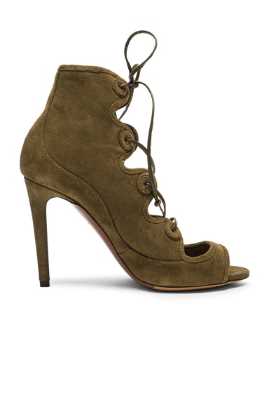 Tabitha Simmons Charlotte Heel in Khaki Suede