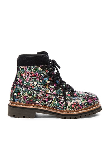 Tabitha Simmons Leather Bexley Boots in Dragonfly Multi