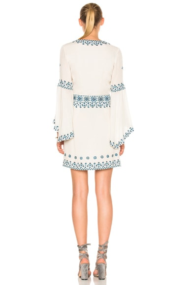 Anya Embroidered Drill Sleeve Dress