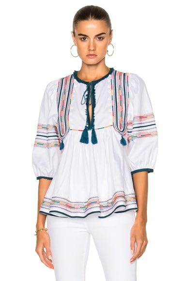 Anya Embroidered Voile Embroidered Top