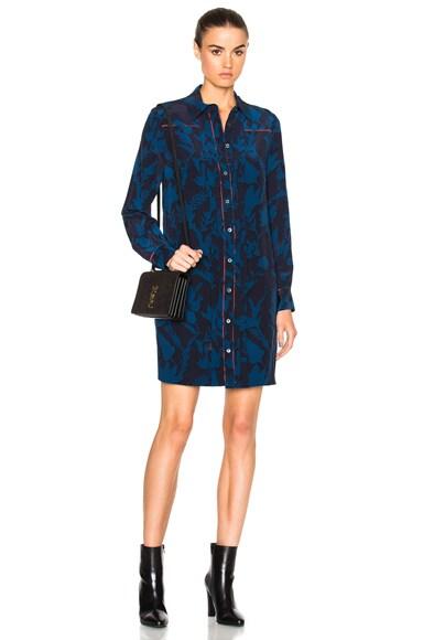 Tanya Taylor Kasia Dress in Midnight & Royal