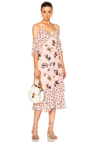 Tanya Taylor Floral Amylia Dress in Rose Multi