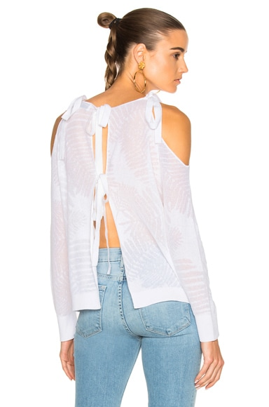 Palm Leaf Sasha Sweater