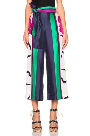 Tanya Taylor Tilda Pants in Hibiscus & Emerald Multi