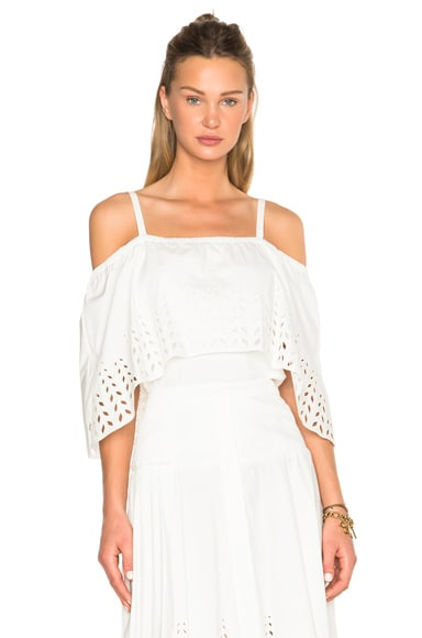 Tanya Taylor Ione Top in White