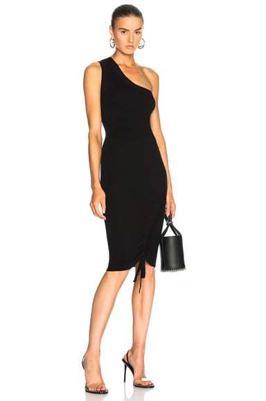 Rusched One Shoulder Dress