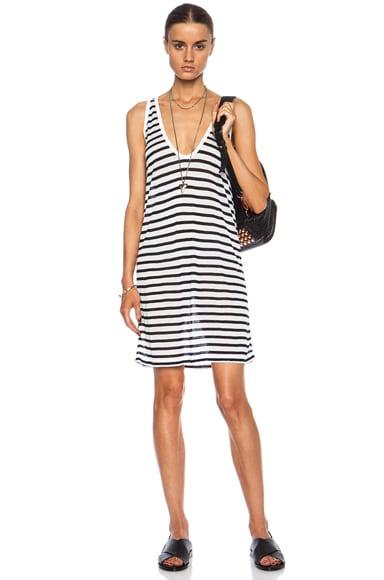 Stripe Tank Rayon-Blend Dress