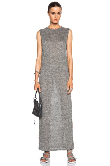 Heather Linen Jersey Long Muscle Dress