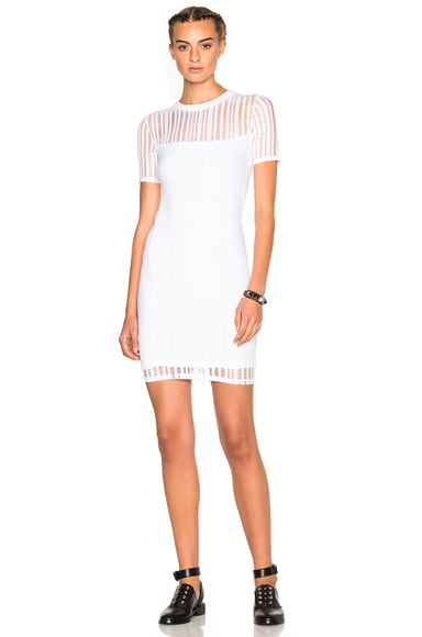Jacquard Short Sleeve Dress