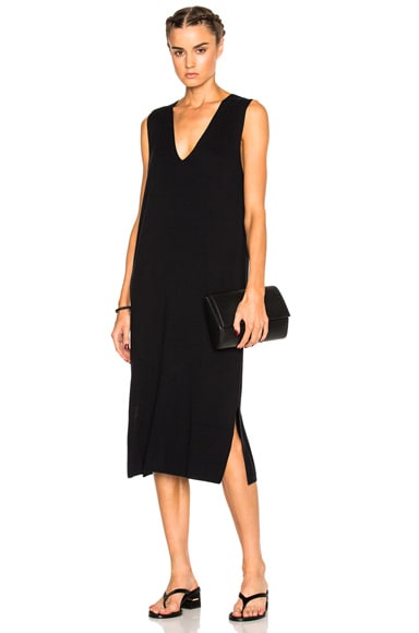 Deep V Sleeveless Dress