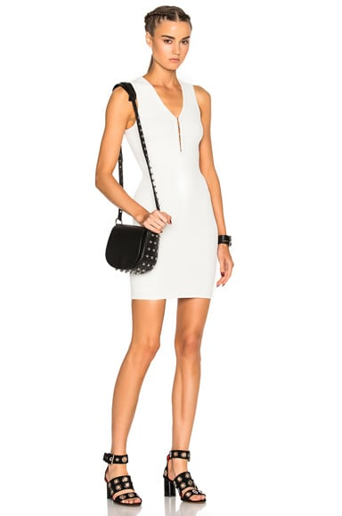 T by Alexander Wang Hook & Eye Mini Dress in Ivory