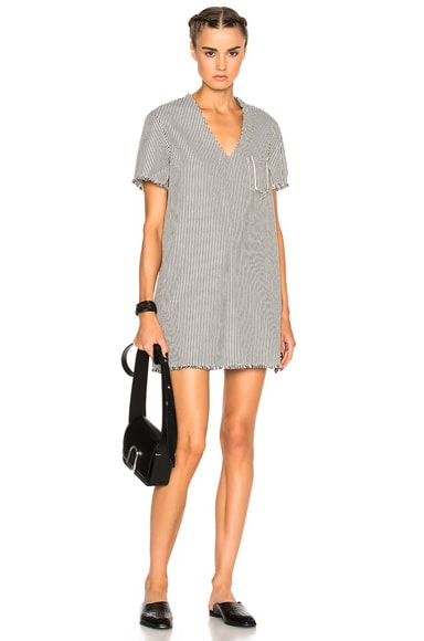 Frayed Mini Dress