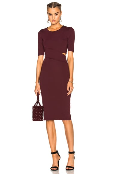 Lux Ponte Slit Dress
