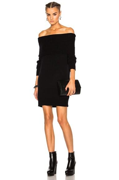 Cashwool Off Shoulder Dress