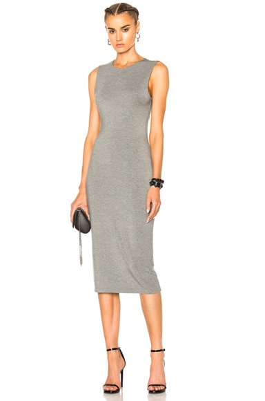 Modal Spandex Back Slit Dress