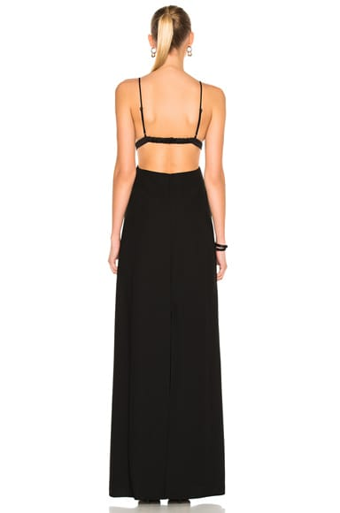 Poly Crepe Triangle Bralette Maxi Dress