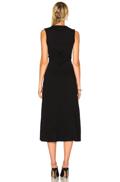 Cotton Jersey Twist Front Muscle Dress