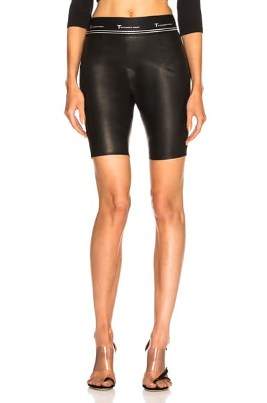 Leather Biker Short
