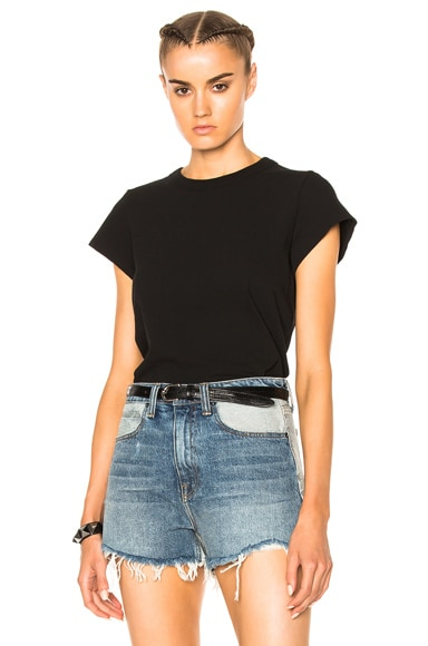 T by Alexander Wang High Twist Fitted Bodysuit in Black