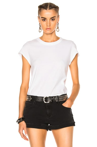 T by Alexander Wang High Twist Fitted Bodysuit in White
