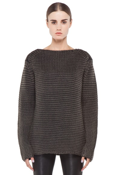 Acid Washed Chunky Sweater