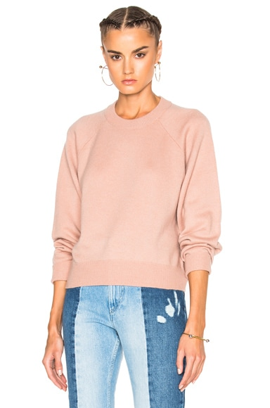 T by Alexander Wang Cashmere Crew Sweater in Peach