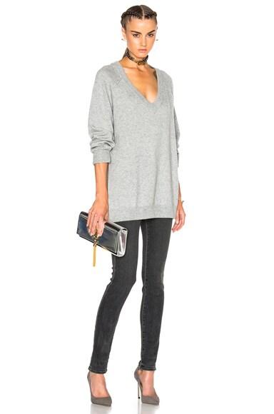 Cashmere Deep V Neck Sweater