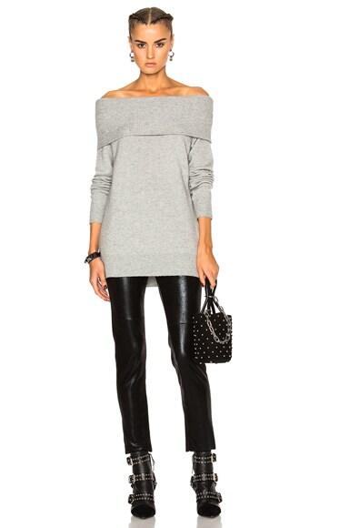 Cashwool Off Shoulder Sweater