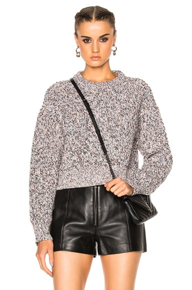 T by Alexander Wang Crew Pullover Sweater in Chambray Multi