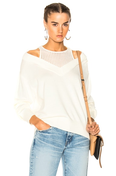 Deep V Sweater with Inner Tank T by Alexander Wang