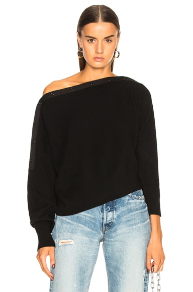 Off Shoulder Crop Sweater