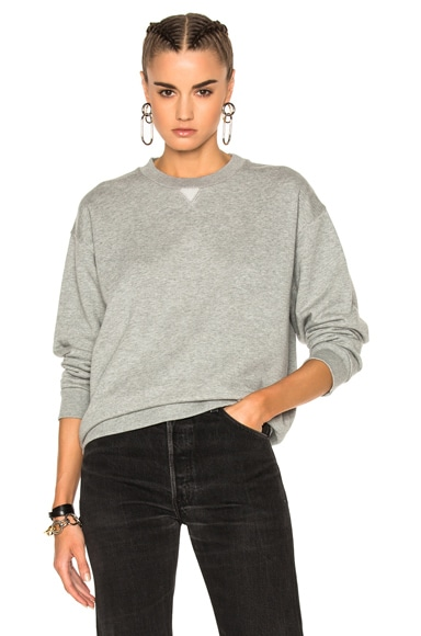 T by Alexander Wang French Terry Sweatshirt in Heather Gray
