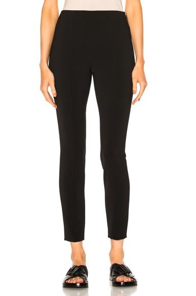 T by Alexander Wang High Waisted Fitted Pant in Black