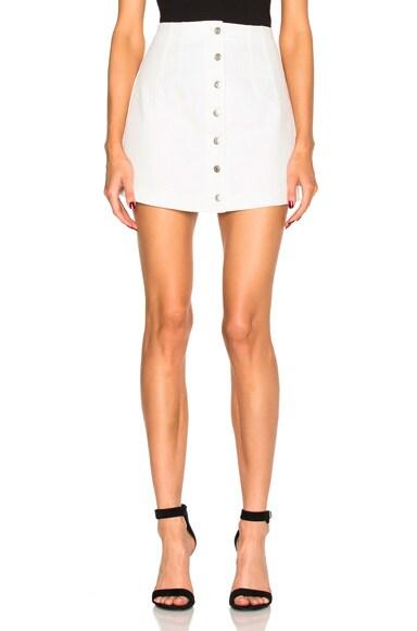 T by Alexander Wang Denim Skirt in Ivory